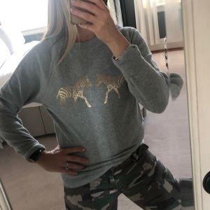 Like new! J.Crew Zebra 🦓 Sweatshirt